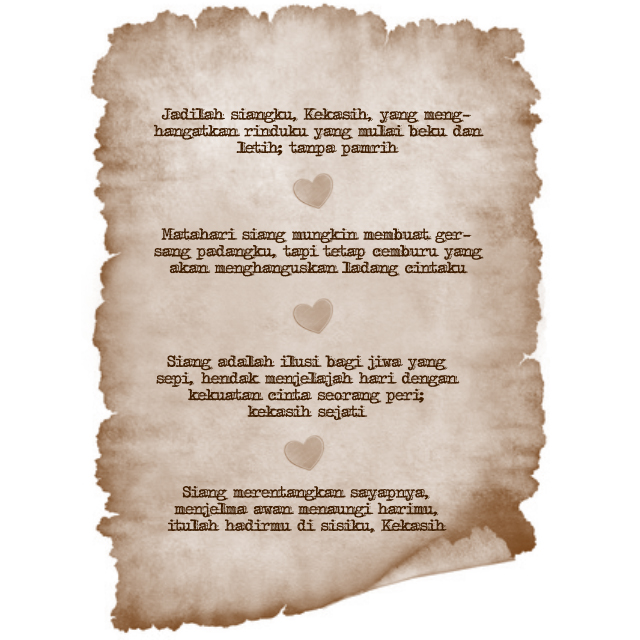 Puisi Cinta Siang