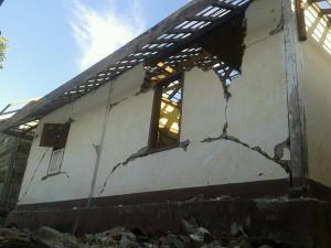 Kondisi Rumah Penduduk Pasca Gempa (dok. @ONOFFLombok)