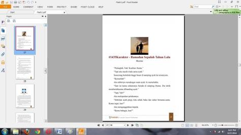 Hasil Print dengan Foxit Reader PDF Printer