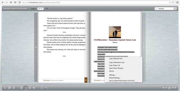 Tampilan Fitur Select Text