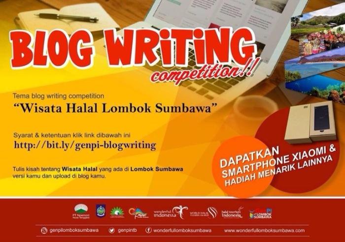 Blog Writing Competition: 'Wisata Halal Lombok Sumbawa' BerhadiahXiaomi